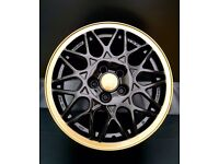Golf vr6 Alloy wheels set of 4 15'' BBS black and gold