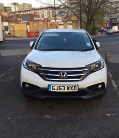Honda CRV-Estate Diesel 1.6 i-DTEC SR 5dr – Pearl White colour
