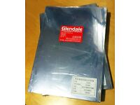 PVC A4 binding covers. Clear, 240mic. 2 packs of 100 sheets.