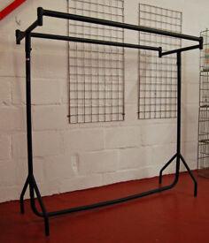 Clothes Rail - Heavy Duty! - 5ft - Double Rail, 2 Rails - Shop Fittings, Retail Display