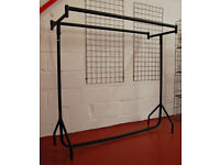 Clothes Rail - Heavy Duty! - 5ft - Double Rail, 2 Rails - Shop Fittings, Retail Display
