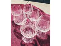 4 x stunning waterford crystal brandy glasses
