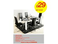Brand New Dining Table Set from as little as £10 per week