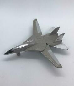 Vintage A143 F-14 Tomcat Grey With Folding Wings Figure Rare Collectable