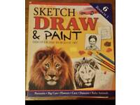 Sketch draw and paint book