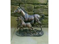 Horse and foal statue.