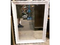 Large Windsor White Bevelled Mirror