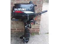 Suzuki Outboard Engine 4HP (Year 2008) for Dinghy Boat Tender