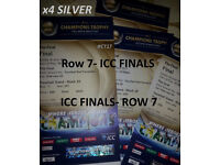 4 x SILVER ROW 7 ***FINAL CRICKET TICKETS ** ICC CHAMPIONS TROPHY CRICKET FOR SALE**