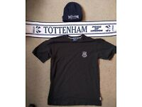 "Retro Tottenham Hotspur ""Spurs"" Football Clothes Job Lot - T-Shirt, Woolly Hat & Scarf"