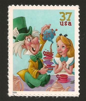 Mad Hatter Movie (Alice in Wonderland Mad Hatter Tea Party Walt Disney Animated Movie Stamp)