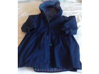 M&S Navy Hooded Coat - age 3