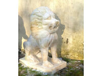 White Marble Temple Guardian Lions