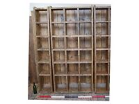 PIGEON HOLES bookcase salvage hunters reclaimed wood upcycle rustic 1 col + 3 col + 1 col gplanera