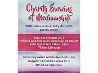 Charity psychic evening for QAH paediatric unit