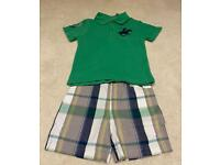 Like New Baby Boys Beverley Hills Polo Club Polo shirt and short set 6-9 months