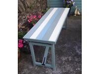 Painted Pine Folding Display / Patio Trestle Table