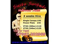 Sunbed Hire in Coventry Halloween A4 Poster