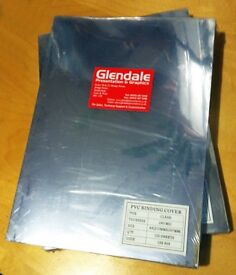 PVC A4 binding covers. Clear, 240mic. 2 packs of 100 sheets. Can also be used as craft materials.