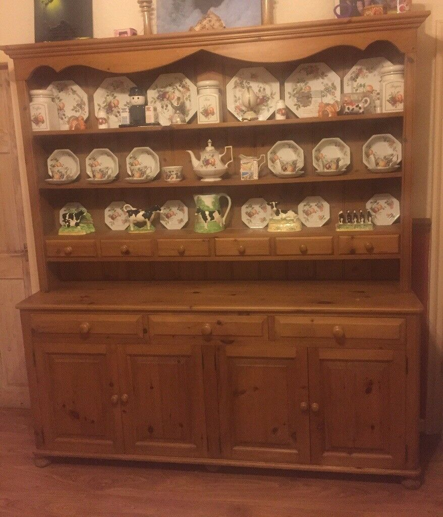 Solid Pine Welsh Dresser 6ft 6in