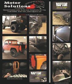 Land Rover Defender 90/110 Rebuilds, Upgrades and Raptor 200tdi, 300tdi, Td5, Tdci
