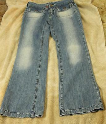 Miss Sixty Jeans Size 25 Distressed Blue Straight Leg Womens