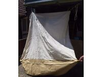 VINTAGE RETRO INNER TENT, AND POLES ONLY FOR SMALL CARAVAN AWNING (no actual awning) GOOD CONDITION