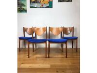 Very Rare Mid Century G Plan Brasilia Teak Dining Chairs by Victor Wilkins FREE LOCAL DELIVERY