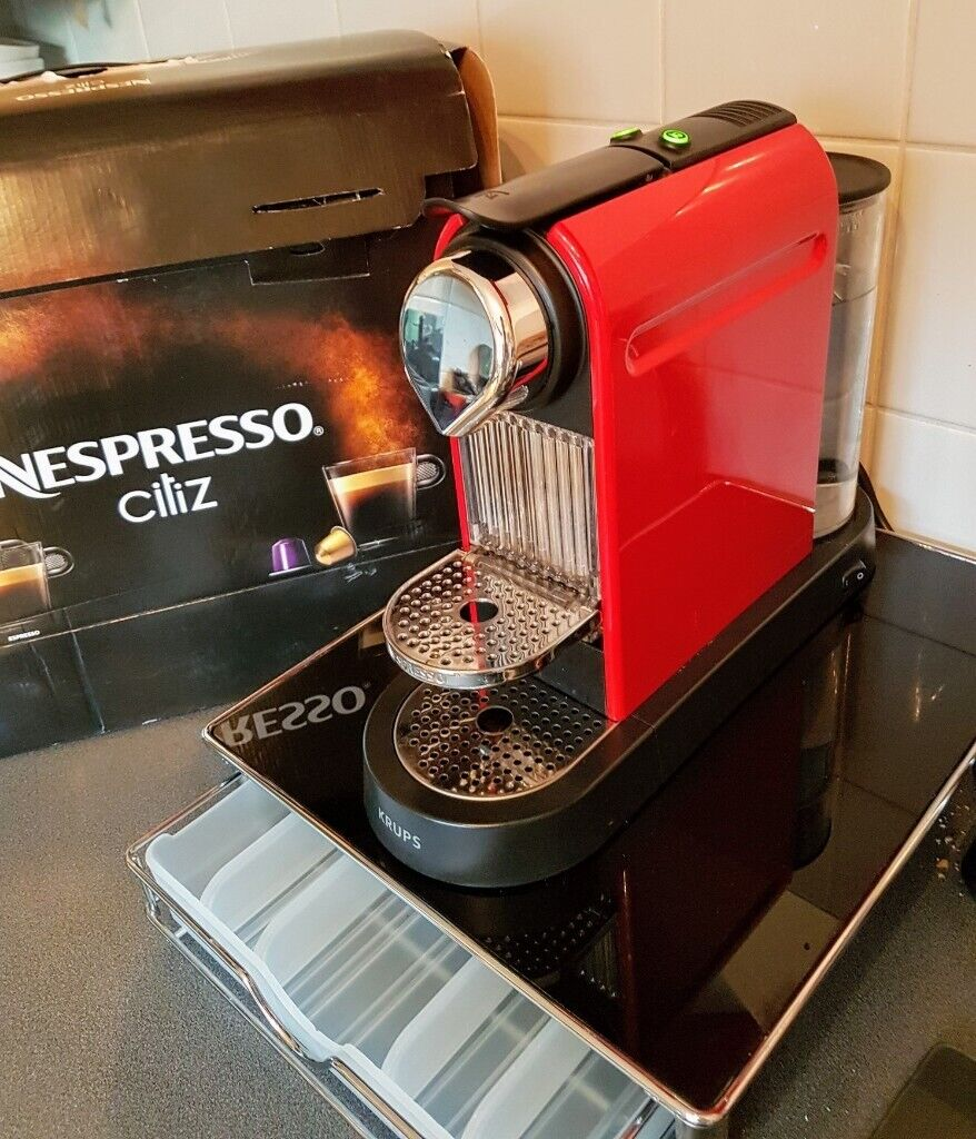 Nespresso Krups Citiz C112 Red Coffee Machine With Glass Stand Drawer And Box John Lewis 122 In Leicester Leicestershire Gumtree