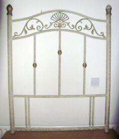 Single Metal Headboard Princess style Antique shabby chic