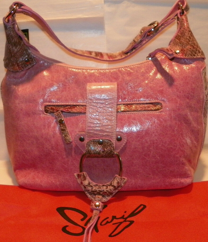 Sharif Studio Pink Rose Hobo Handbag Purse