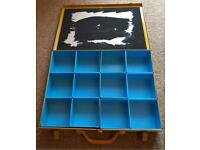 Metal Workshop Storage Box - 12 Removable Compartments