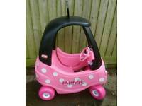 Little tikes minnie mouse coupe car