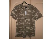 Mens Army Baseball shirt size M Brand new with tags