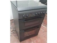 Indesit KD6G25SAIR Gas Cooker with Double Oven, 60 CM wide