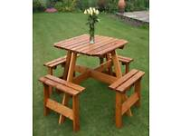 Wooden 8 seater garden bench picnic table furniture