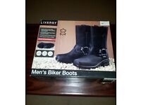 Leather Biker boots, size 11. Made from Buffalo leather. Brand new. Never worn.