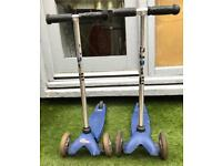 Two Micro blue kids scooter (£4 for 2)
