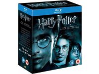 Harry Potter Blu Ray The 11-Disk Complete 8 Film Collection Box Set UK Region B