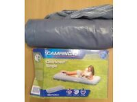 Inflatable camping bed - single