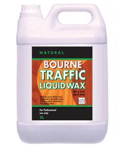 Johnsons Diversey Bourne Traffic Liquid Wax (Natural) 5 Litre Wood Floor Polish
