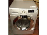 LG 8kg directdrive washer dryer in silver colour