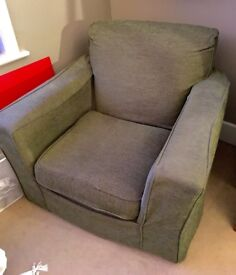Green sofa chair