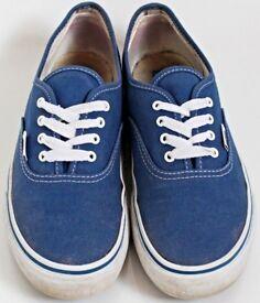 Women's Size 3 Blue Vans Trainers