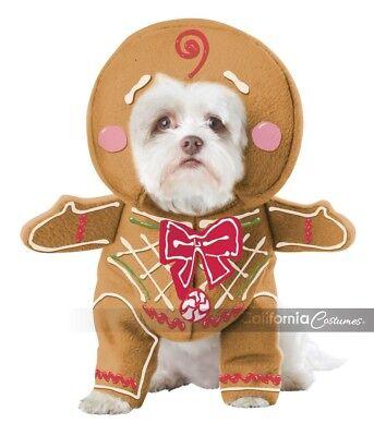 California Kostüm Lebkuchen Welpe Hund Urlaub Weihnachten Kostüm PET20133