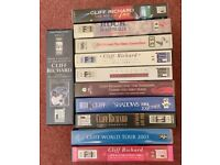 11 CLIFF RICHARD VHS VIDEOS