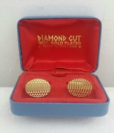 Diamond Cut 22 ct gold plated Cufflinks
