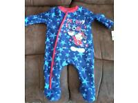 Brand New 0-3 months Fleece Mick Sleepsuit