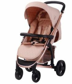 My Babiie Billie Faiers Rose Gold & Blush MB200 pushchair