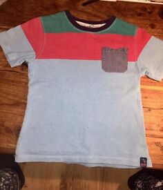 Ted Baker Boys tshirt Age 5-6 Blue Red Green Ted Baker Boys top